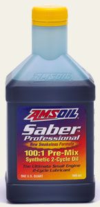 AMSOIL Saber Professional (ATP) and Outboard (ATO) Synthetic 100:1 Pre-Mix 2-Cycle Oils