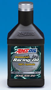 AMSOIL Dominator® Synthetic 5W-20 Racing Oil (RD20)
